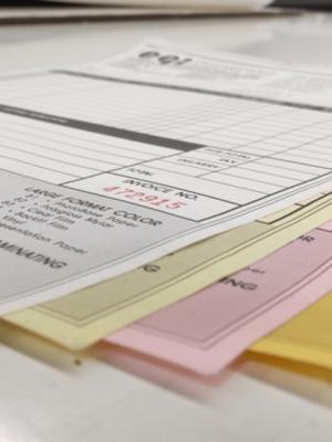 Carbonless Printing - NCR forms